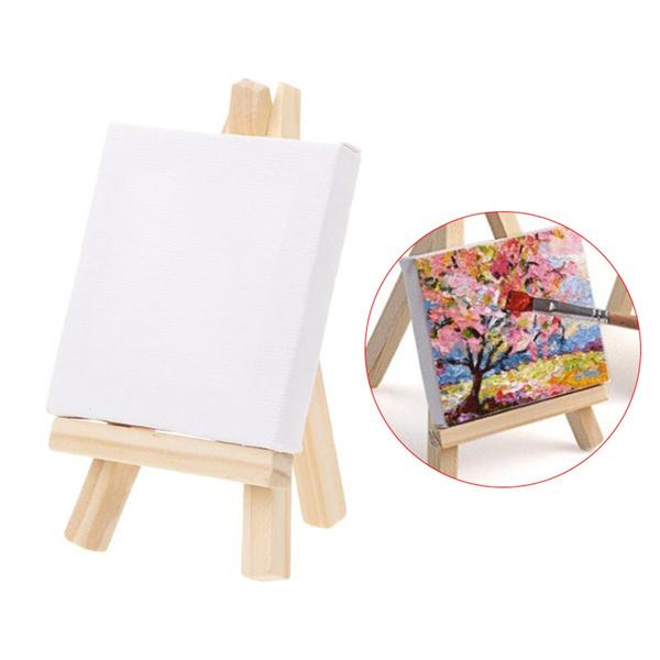 Mini, woodenframe, easel, art
