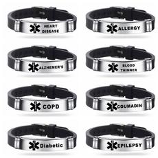 Steel, medicalbraclet, emergencyremindbracelet, Laser