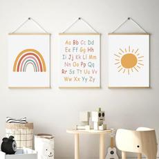 Baby, rainbow, Decor, Wall Art