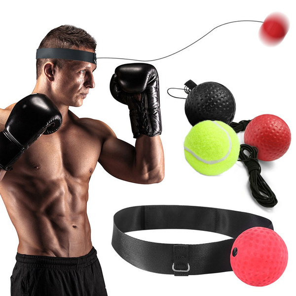3x Boxing Training Fight Ball Reflex Speed Reaction Punch Combat Muscle Exercise