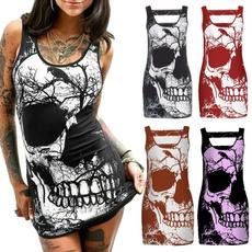 Mini, Style, skull, shirt dress