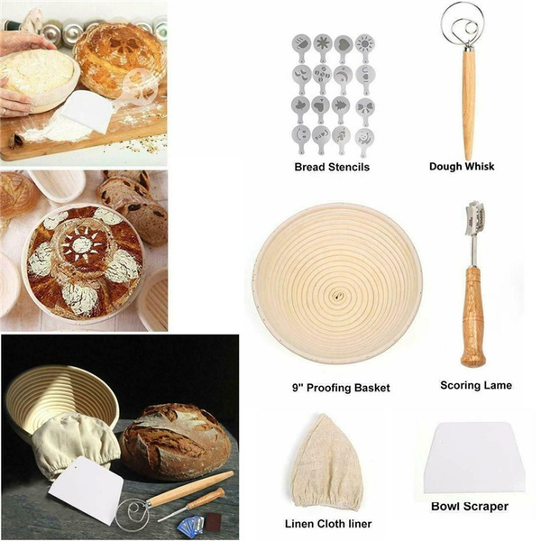 Baking, doughscraper, rattanbasket, Home & Living