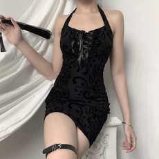 butterfly, GOTHIC DRESS, Lace, offshoudlerdres