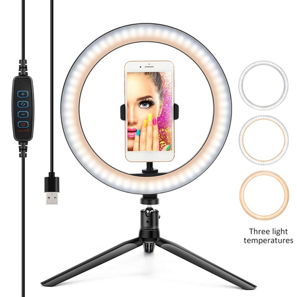 """10/"""" LED Ring Light with Stand for Tiktok Makeup Video Live Phone Selfie Youtube"""
