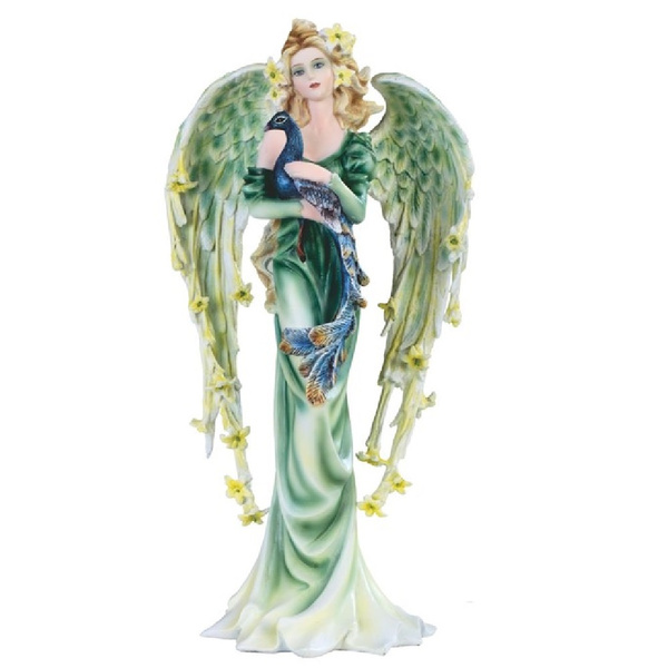 peacock, fairy, Figurine, Green