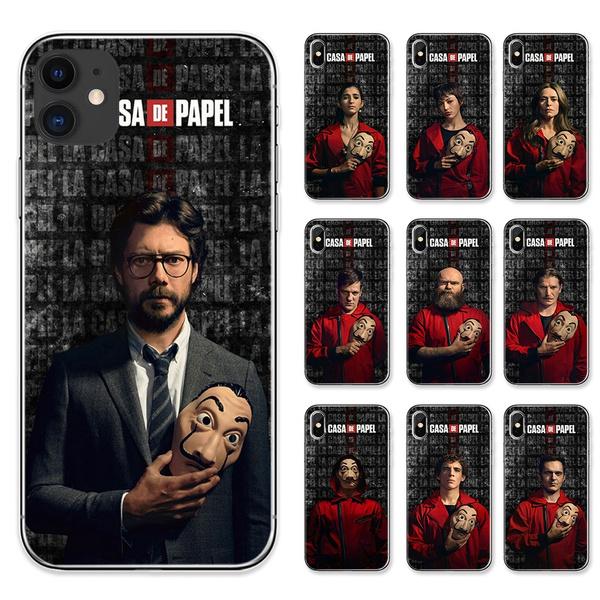 Spain TV Money Heist Nairobi Professor Phone Case La Casa De Papel Soft TPU Covers for IPhone 11 Pro Max 8 7 6S Plus X XS MAX XR and Samsung Galaxy S6 ...