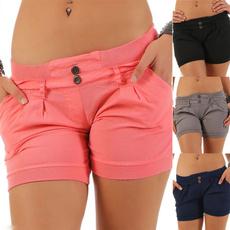 Summer, Shorts, Waist, slimfitshort