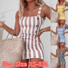summer dresses, slim dress, Plus Size, Vintage