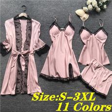 strapsleeplounge, lacepajama, Lace, satinsleepwear