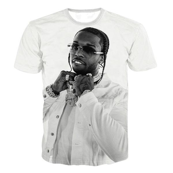 Summer, popsmoketshirt, Short Sleeve T-Shirt, Graphic T-Shirt