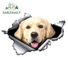 3dcarstickercarstyling, brightgoldenretrieversticker, Decor, goldenretrieversticker
