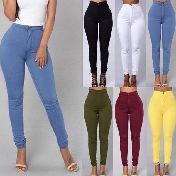 Women Pants, pencil, Fashion, Elastic