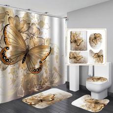 butterfly, golden, Ванна кімната, bathroomdecor