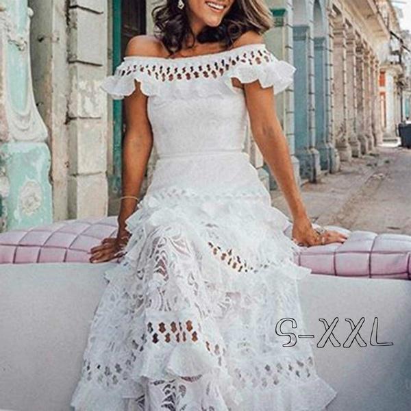 sexy, whiteweddingdre, Lace, Dresses