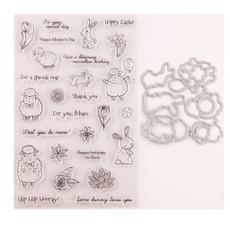Sheep, pocketscrapbook, cuttingdiesembossingstencil, Stamps