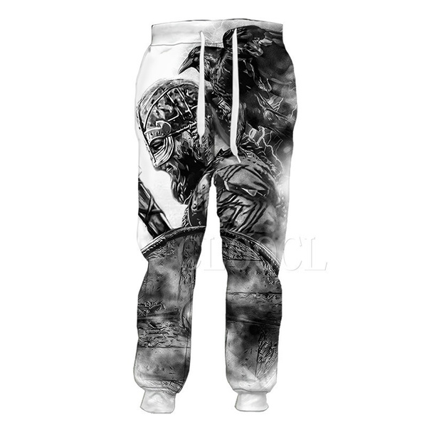 viking, tattoo, trousers, pants