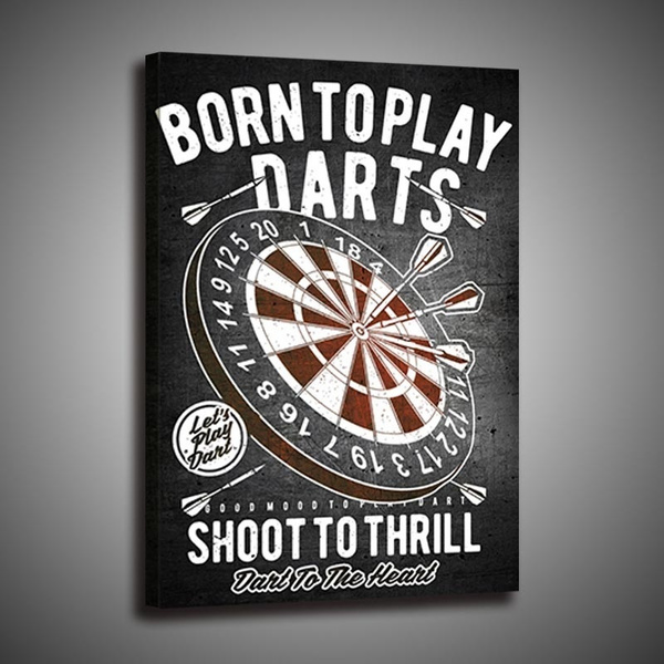 decoration, art, Wall Art, borntoplaydartsartposter