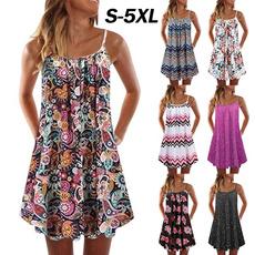 Summer, Plus Size, Dress, Spaghetti Strap