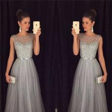 Summer, Fashion, chiffon, Evening Dress