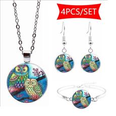 Owl, Jewelry, Gifts, Glass