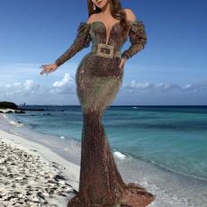 fishtailskirt, Sleeve, Long Sleeve, Double Breasted