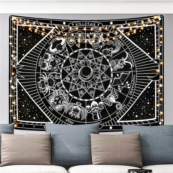 walltapestry, Star, mandalatapestry, bedroom