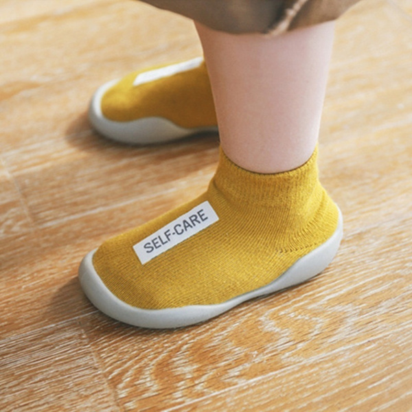 Soft Rubber Sole Baby Shoe Knit Booties