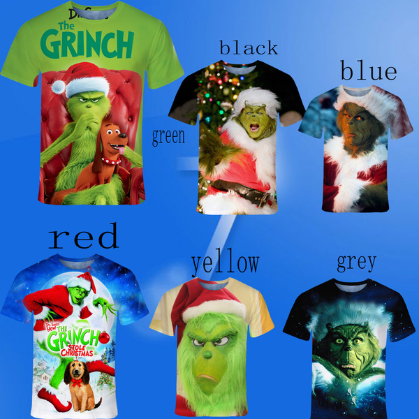Novelty Fashion Movie How The Grinch Stole Christmas T Shirt 3d Printed Grinch T Shirt Wish