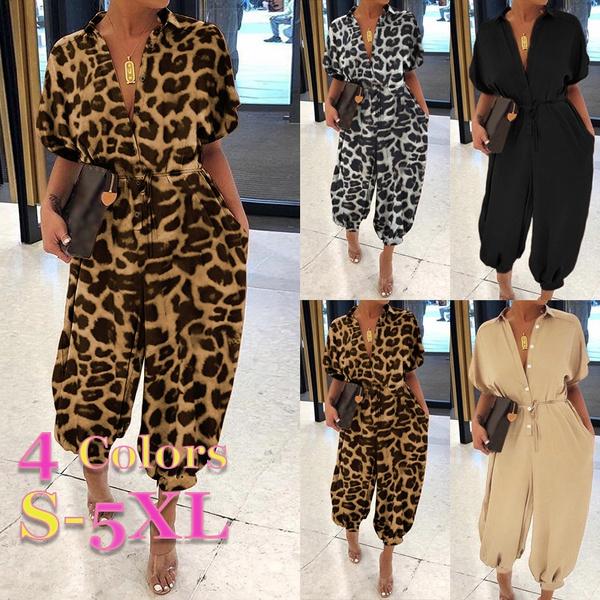 Long pants, Summer, bibpant, Leopard
