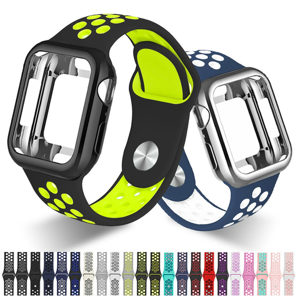 case, iwatchseries5band, Apple, sportsiliconeiwatchband