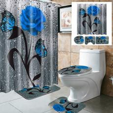 Blues, Bathroom, nonslipmat, Waterproof