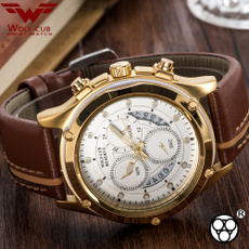Chronograph, quartz, Jewelry, gold