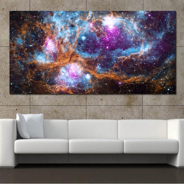 Star, Decor, nebula, Wall Art