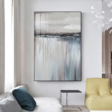 Gray, living room, Colorful, canvaspainting