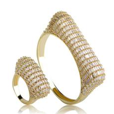 flowerjewelryset, Jewelry, gold, crystaljewelryset