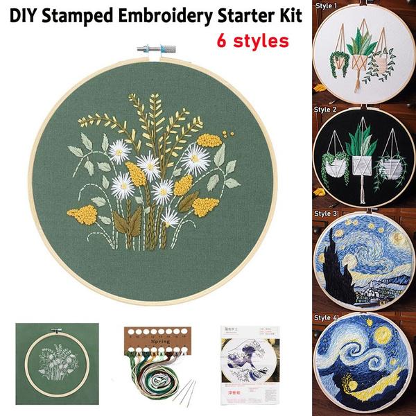 diy, Flowers, embroideryhoop, Cloth