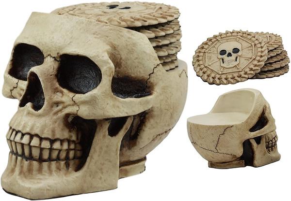 Skeleton, Statue, skull, skullfigurine