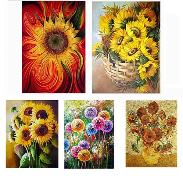Pictures, DIAMOND, Jewelry, Sunflowers