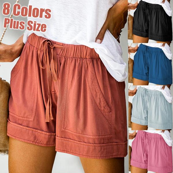 Summer, Plus Size, Waist, pants