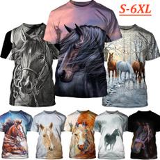 woman t shirt, horse, Plus Size, Shirt