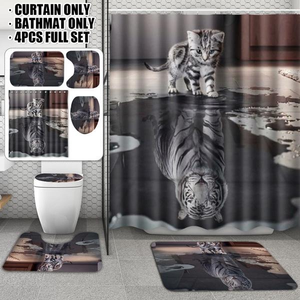 Shower, Bathroom, nonslipmat, Shower Curtains