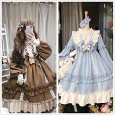 cute, ruffle, Cosplay Costume, Dress