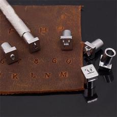 Steel, alphabetmold, lettersstamper, stamperset