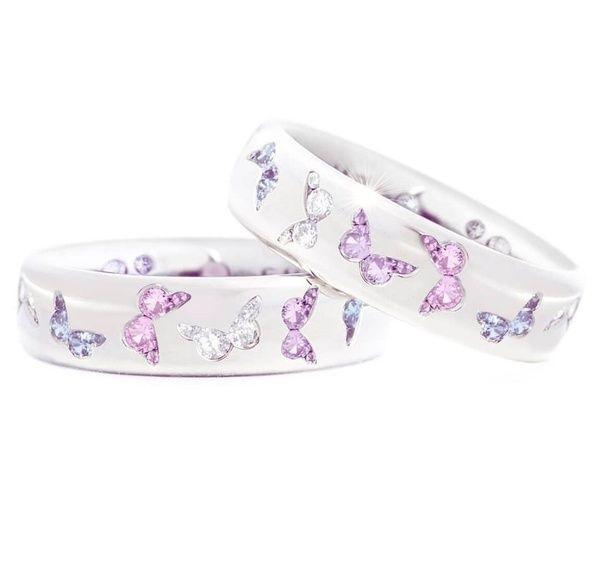 butterfly, Sterling, DIAMOND, wedding ring