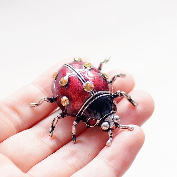 vintagebrooch, ladybug, Pins, enamelbrooch