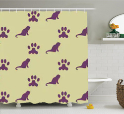 Shower, showercurtains66x72inch, Bathroom, linerwith12curtainhooksclear