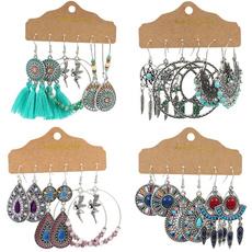 Antique, bohemia, Set, vintage earrings