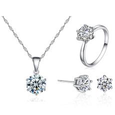 Fashion Accessory, DIAMOND, Stud, Silver Ring