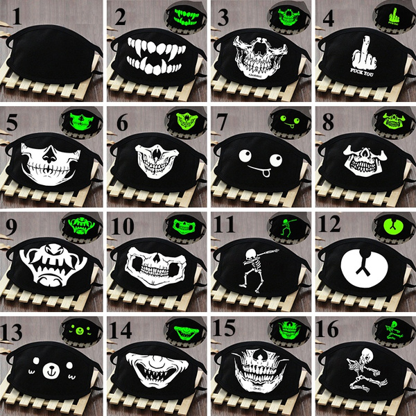 cartoonmask, dustproofmask, Cotton, skull