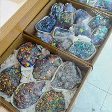 Heart, crystalcluster, quartz, electroplatecrystal